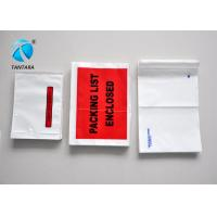 China Recyclable Mailing packing list enclosed pouches tear resistance wholesale