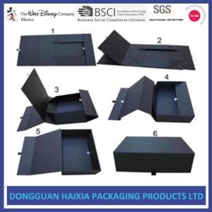 China Luxury Shoes Magnetic Closure Gift Box , Black Gift Box With Lid Matt Lamination wholesale