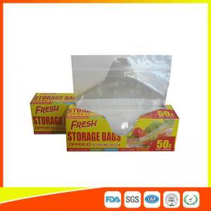 Food Preservation Freezer Zip Lock Bags Reusable For Home / Supermarket Use