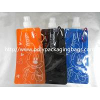 China PET / Nylon / LDPE Stand Up Pouch With Spout , Simple Children's Nozzle Water Bag wholesale