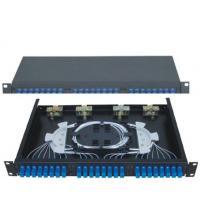 China SC24 Rack-Mounted Fiber Optic Patch Panel apply in working as distribution box wholesale