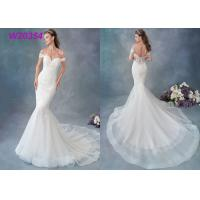 China Embroidered Lace / Tulle / English Net Mermaid Style Wedding Dress Detachable Cap Sleeve wholesale