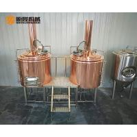 Buy cheap 3HL Red Copper Beer Brewing Equipment With Electric Temperature Control from wholesalers