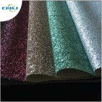 China Home Glitter Sequin Fabric Flocked Type High Color Fastness 4 Grade Dry Fastness wholesale