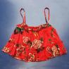 China Sexy Printed Sleeveless Halter Crop Top S-XXXL Size , Ruffles Decoration wholesale