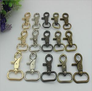China Hot sale factory price bag accessory nickel color 32 & 38 mm metal oval bolt trigger snap hook for handbag wholesale