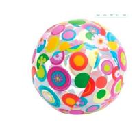 China 24 Inch Inflatable Beach Ball Splashy Flower Design Lively Print Fun Party Toys wholesale