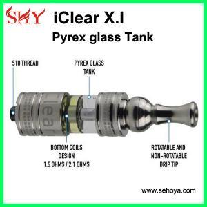 China innokin iclear x.i atomizer pyrex glass tank in stock wholesale