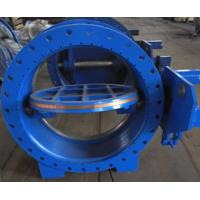 China AWWA DN1000 Worm Gear Eccentric Butterfly Valve / Industrial Butterfly Valve Casting Iron Material wholesale