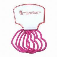 China 100% Silicone Elastic Band with Heart Shape and Solid Color, Available in Various Colors wholesale