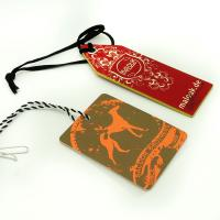 China Colorful Craft Paper Hang Tags With String For Clothing , Fashion Business Hang Tags wholesale