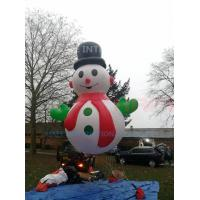 China 8 M Snow Man Helium Balloon Lights With Full Printing For Events Or Christmas wholesale