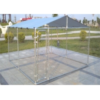 China Modular Chain Link Boxed Galvanized 2.3mm Outdoor Dog Kennel wholesale