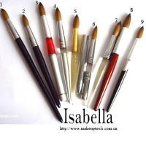 China Kolinsky Nail Art Brushes Size 2 Lot of 24 on sale