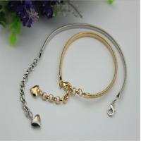 China Universal fashion 129 mm length iron material light gold women shoes metal chain buckle with hooks wholesale
