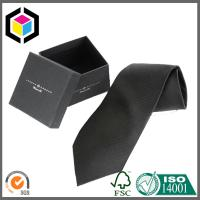 China Silk Screen Print Color Logo Boutique Cardboard Gift Tie Packing Box wholesale