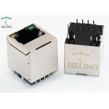 China Vertical 10 / 100 Base - T Integrated Magnetic RJ45 Connector LAN Modular Jack 100 Mbps wholesale
