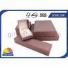 China Small Paper Jewelry Box Custom Gift Packaging Box with Foam Inside , Matt Lamination wholesale
