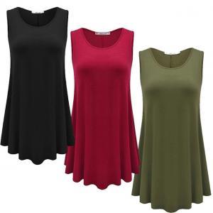 China Sleeveless Plus Size Ladies Shirts Dress L, M, S, XL, Xs, XXL, XXS, XXXL Sizes wholesale