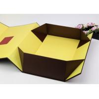 China Yellow Color Decorative Gift Packaging Boxes With Beautiful Book Shape wholesale