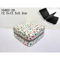 China Square Small Recyclable Luxury Makeup Case Durable PVC Leather Cosmetic Box wholesale