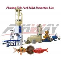China Alloy Steel Floating Fish Feed Production Line with 1t/h production on sale