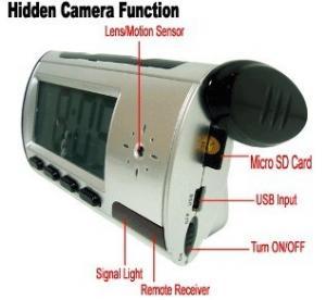 China Home Security Mini Alarm Clock DVR Spy Hidden Surveillance Camera Audio Video Recorder on sale
