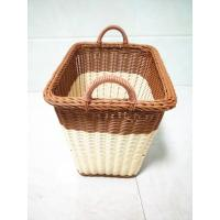China PP Rattan Round Bathroom Storage Basket Hamper,  Collapsible Large Laundry Basket wholesale