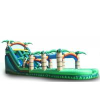 China Rainbow Big Inflatable Water Slides , Kids / Adults Blow Up Slip And Slide on sale