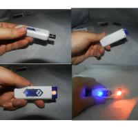 China Ten Color Optional Usb Rechargeable Lighter , Plastic Usb Cigarette Lighter wholesale