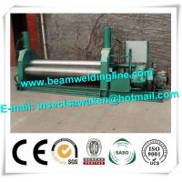 China 3 Roller Hydraulic Symmetrical Plate Rolling Machine For Shipbuilding / Petroleum wholesale