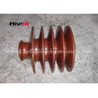 China Distribution Lines 33kv Pin Insulator With Zinc Thread Brown BS Standard wholesale
