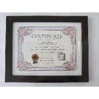 China 8, 5x11Black MDF Certificate Frame wholesale
