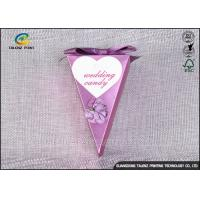 China Small Purple Decorative Gift Boxes , Chocolate Candy Boxes Triangle Shaped wholesale