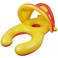 China Mom And Baby Inflatable Swim Ring With Sun Shade Canopy / Bucket Seat PVC Baby Float wholesale