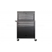 China 600 260 340mm 6 drawer Roller Black 24 Inch Tool Chest On Wheels wholesale