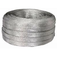 China Electrical / Industrial Tinned Copper Braided Sleeving , Flat Cable Shielding Sleeve 600V wholesale