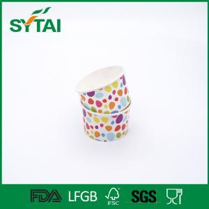 3-32oz Disposable Ice Cream Cups With Lids , Custom Printed Ice Cream Cups ISCO9001