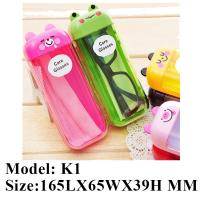 China 2017 newest children plastic sunglasses case wholesale