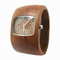 Buy cheap Wooden Watch with Wood Case/Strap and Japan Quartz Movement, Environment from wholesalers