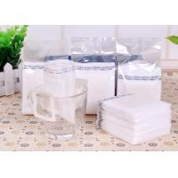 China Narrow Single Serve Iced Coffee Filter Bag White Color With Food Grade Material wholesale