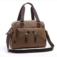 China New Fashion Casual Tote Crossbody Handbags Canvas Bag Men and Women Shoulder Bag with zippers wholesale