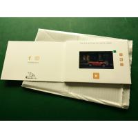 China Hd Screen Lcd Video Booklet With Smart Button , Matte Lamination Color Cover wholesale