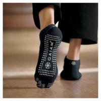 China men's Breathable Black 5 Toes anti-bacterial Non-slip Socks with Super warm For Yoga wholesale