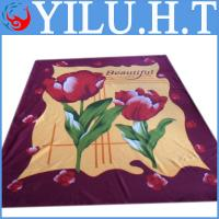 China indian no sew red flower polar fleece tie blanket kits beautiful wholesale