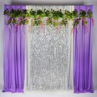 China Upholstery Sequin Fabric Backdrop , Sequin Backdrop Curtains Wide Application wholesale