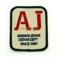 Iron On Garment Vintage Embroidered Patches , Personalised Embroidered Badges