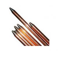 China Stand copper lightning rods with One head flat and another head point wholesale