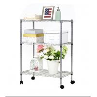 China Durable Organizer Free Standing Shelves , Metal Wire Rack For Kitchen Garage Pantry wholesale