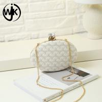 China Online hot selling evening bag gold pu leather box young girl clutch bag pu evening bag wholesale